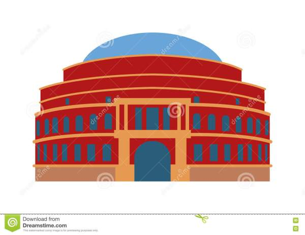 Theater Building Vector Illustration. Stock