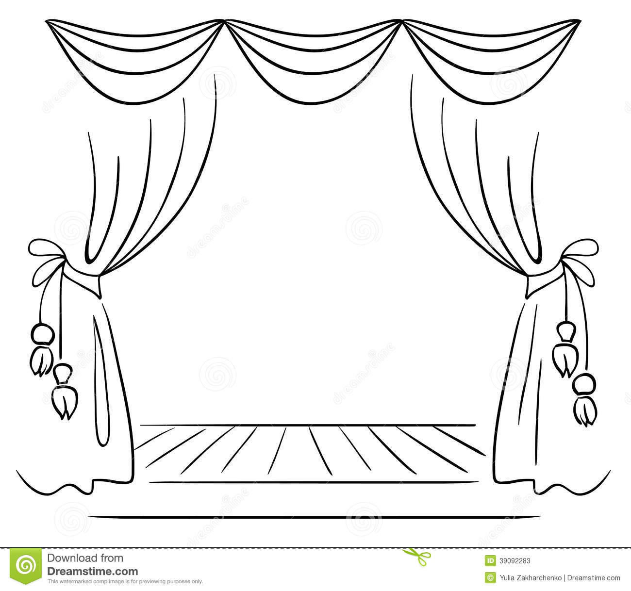 Theater Stage Vector Sketch Stock Vector