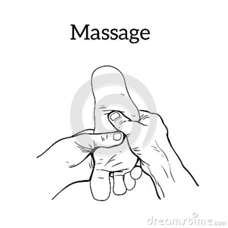 Therapeutic Manual Massage. Medical Therapy Stock Vector