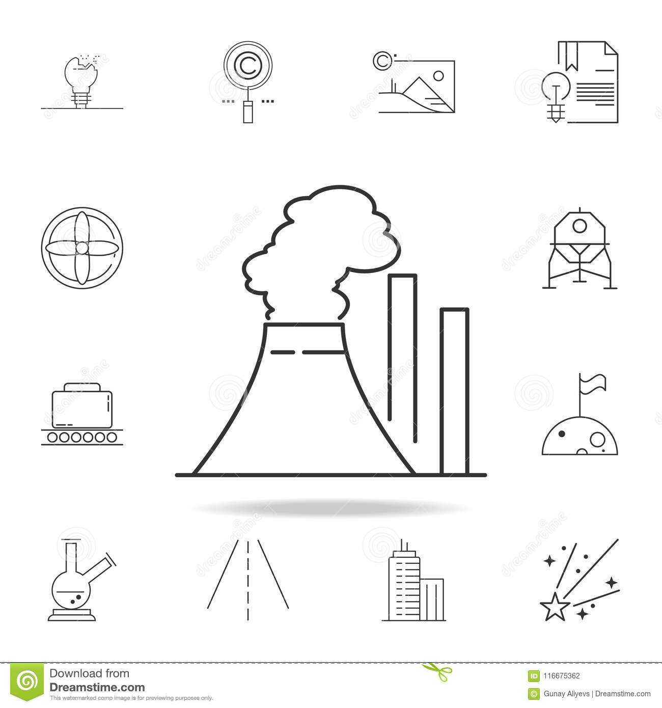 Thermal Power Plant Icon Detailed Set Of Web Icons And