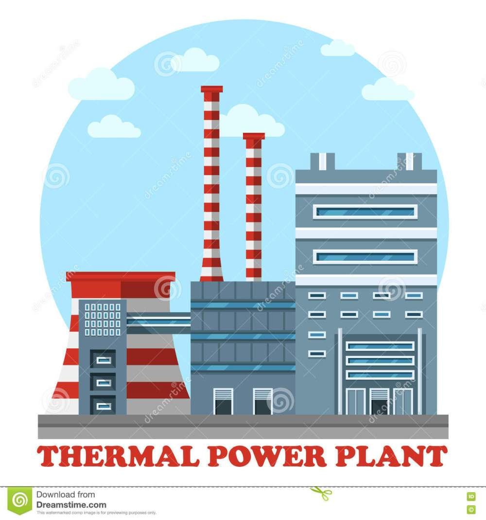 medium resolution of thermal power station and plant for heating