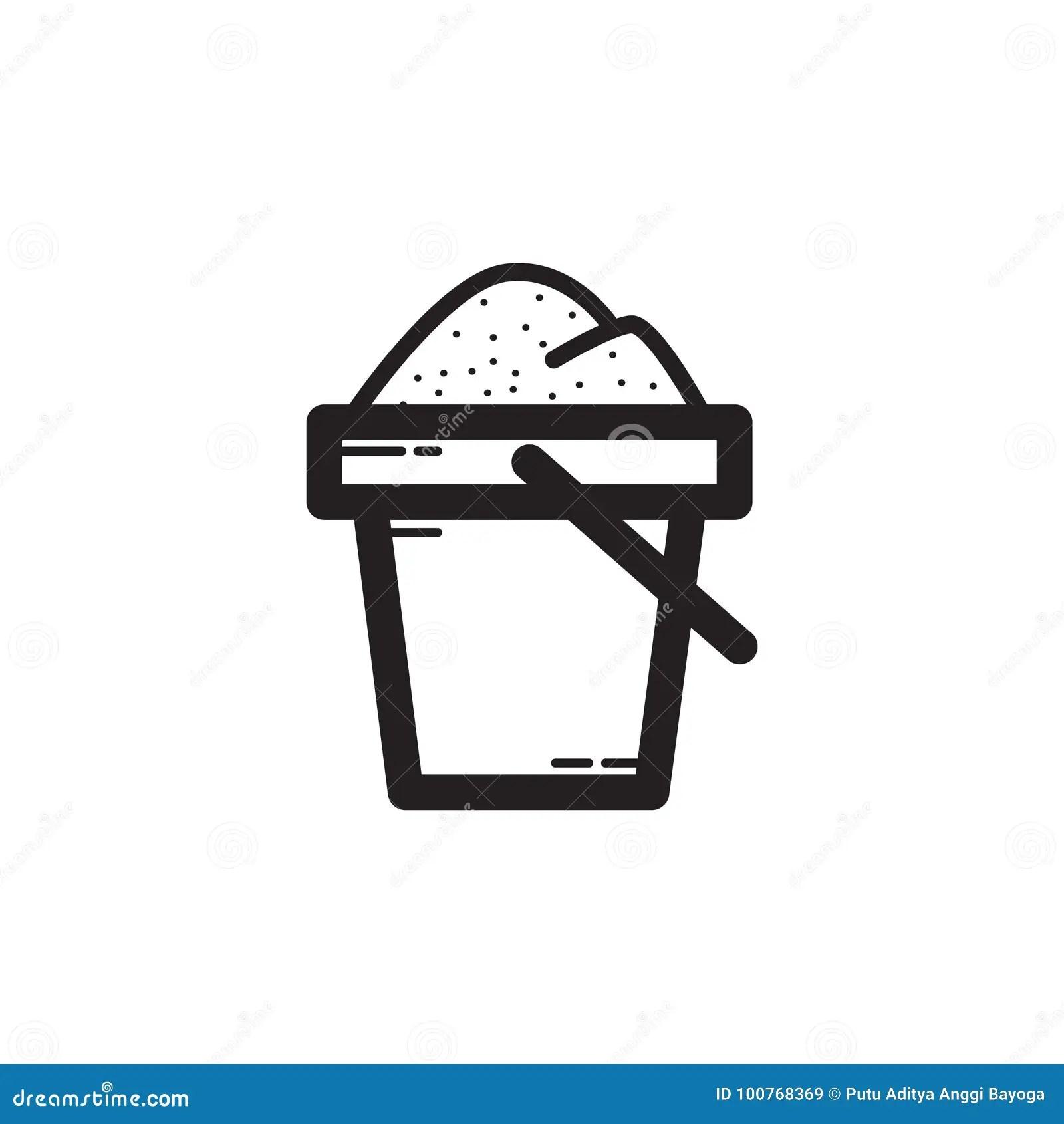 Thin Line Sand Bucket Icon Stock Vector Illustration Of