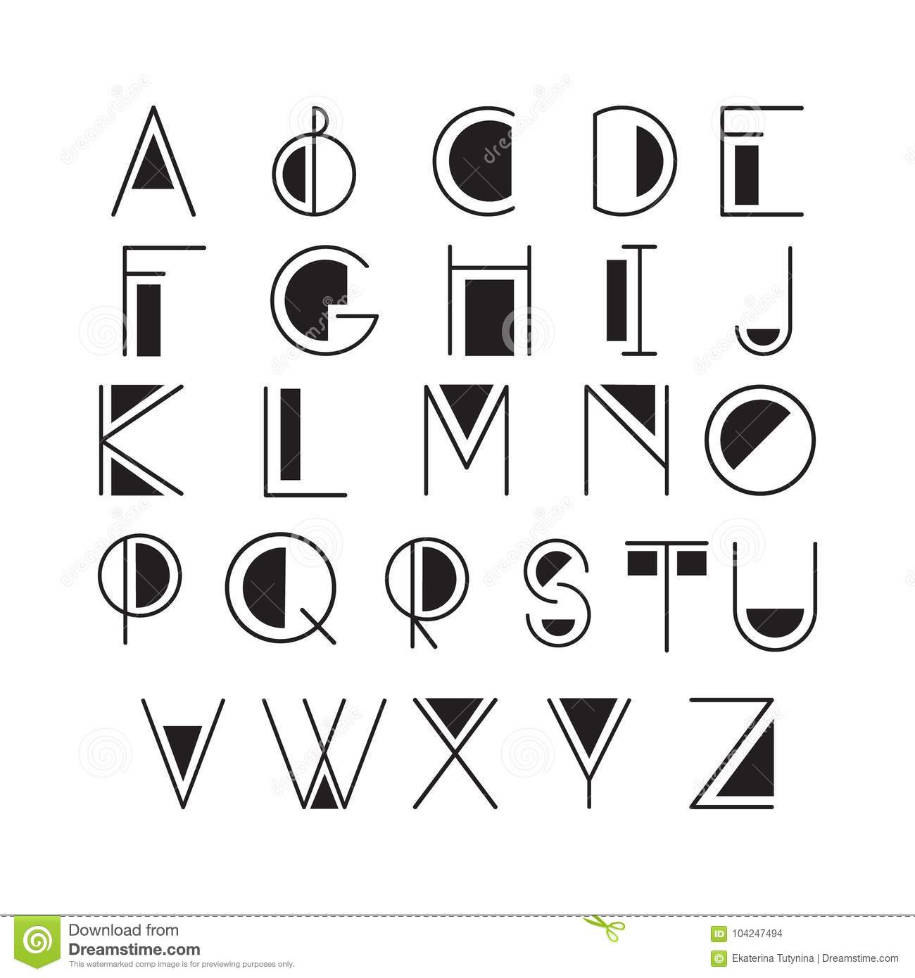 Thin Line Style, Linear Modern Font, Typeface Made In