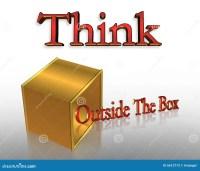 Think Outside The Box Business Slogan Stock Illustration ...