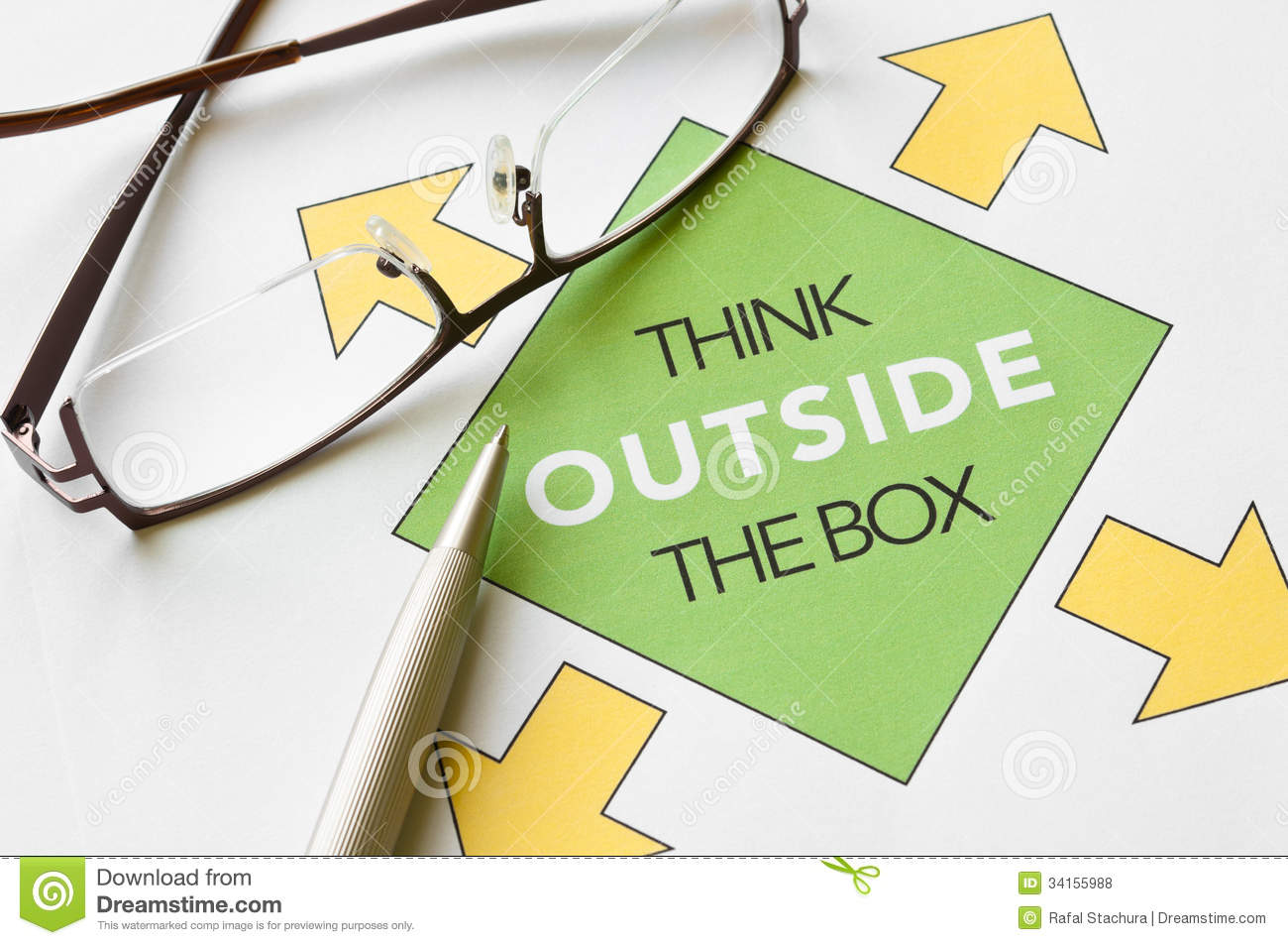 Think Outside The Box Stock Photo Image Of Planning