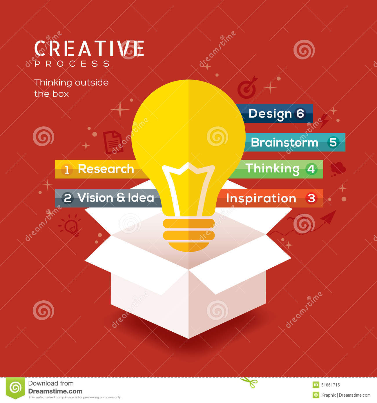 Think Outside The Box Stock Vector