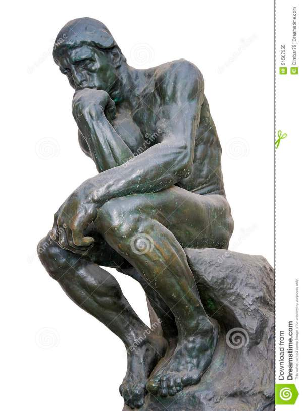 Thinker - Of Famous Sculptures Auguste