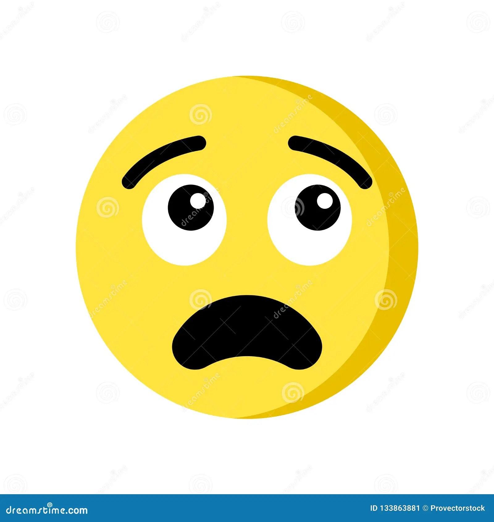 thinking emoji icon isolated