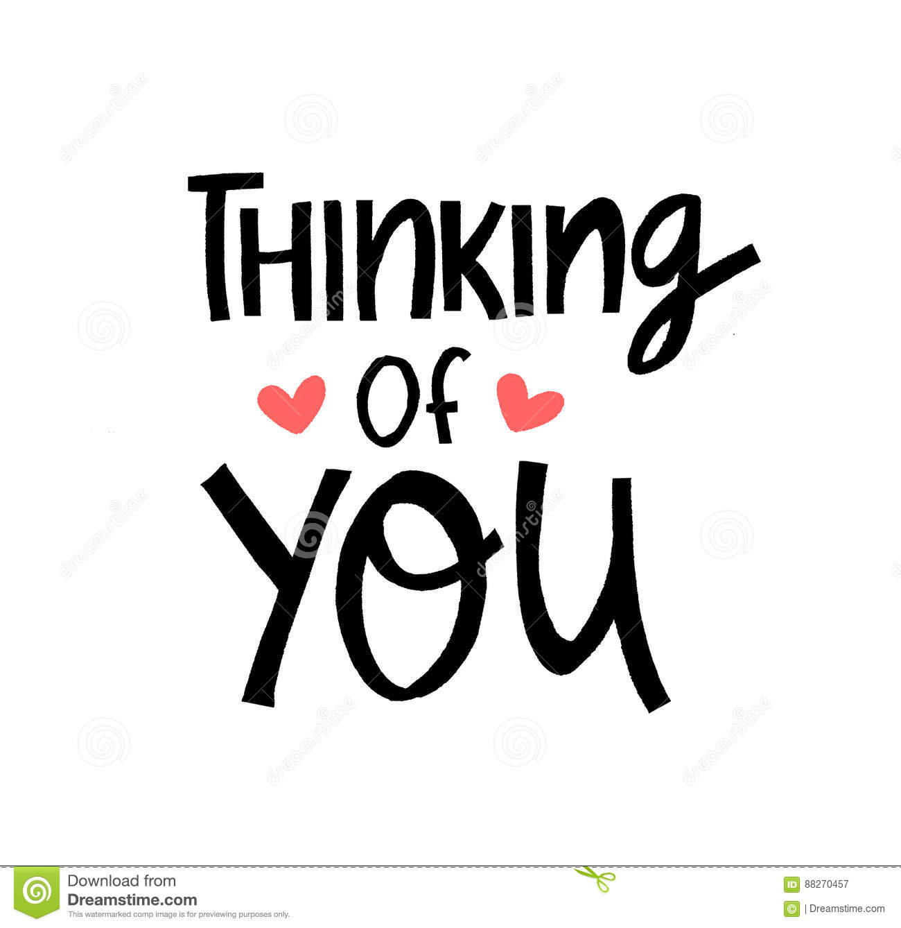 Thinking Of You Reminder Message For Best Friends Stock