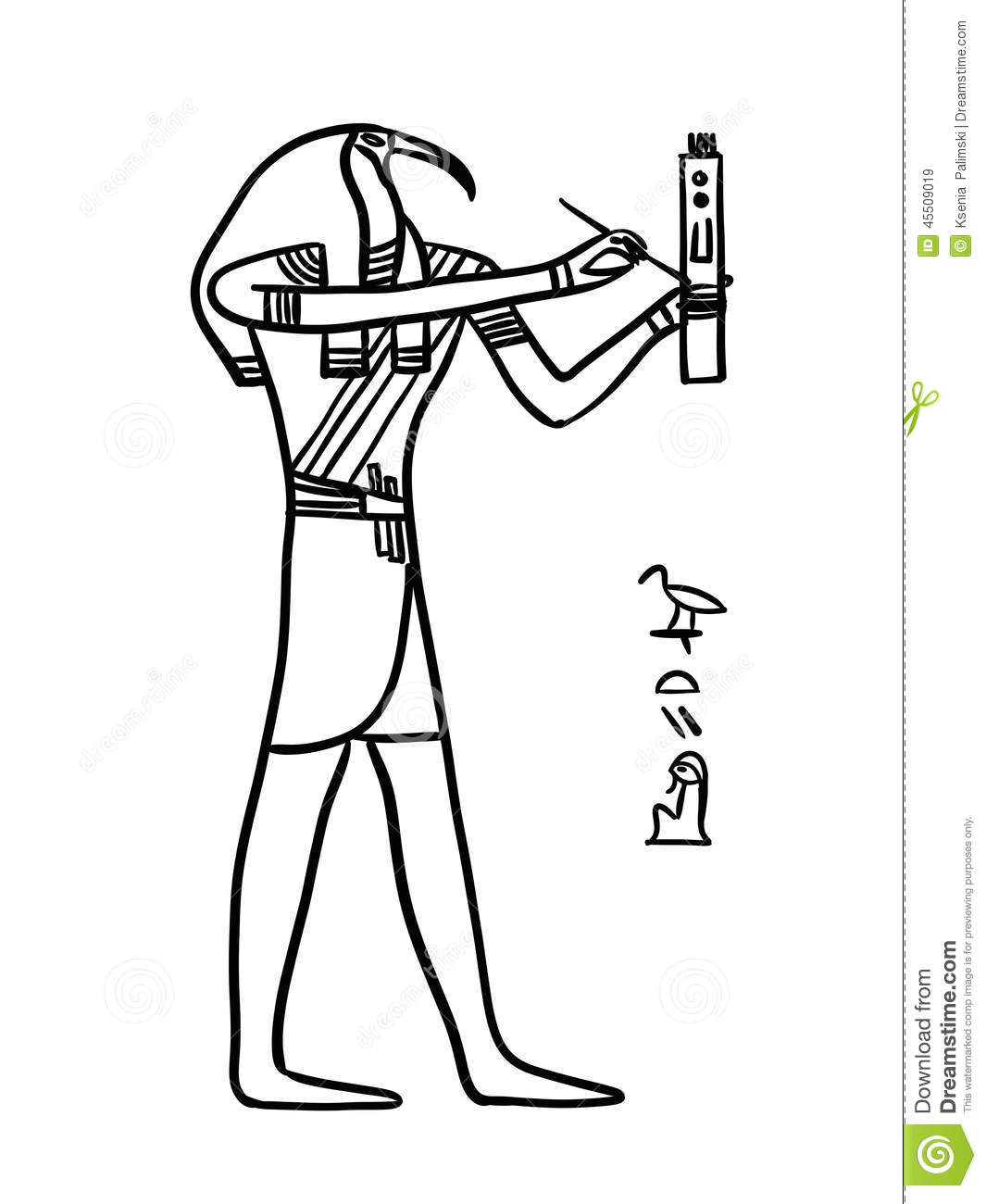 Thoth Egyptian God Stock Illustration
