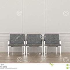 Grey Modern Armchairs Lift Chair Medicare Billing Three Chairs In A Waiting Room Stock Illustration