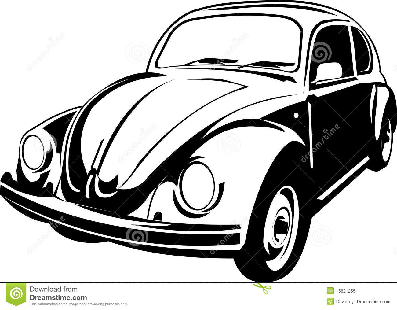 Three Quarter View Of A Beetle Stock Vector