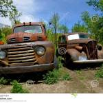 Ford Truck And Old Car Parked In A Meadow Editorial Image Image Of Aged Automobile 72861095