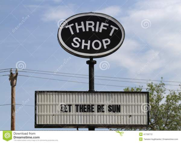 Thrift Sign Offers Hope Editorial - 41769712