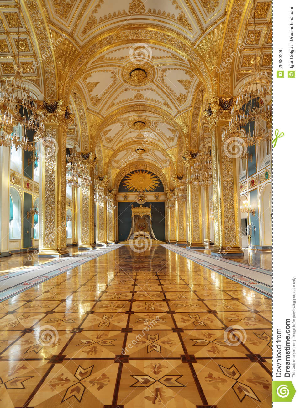 Throne Hall Stock Photo  Image 29683230