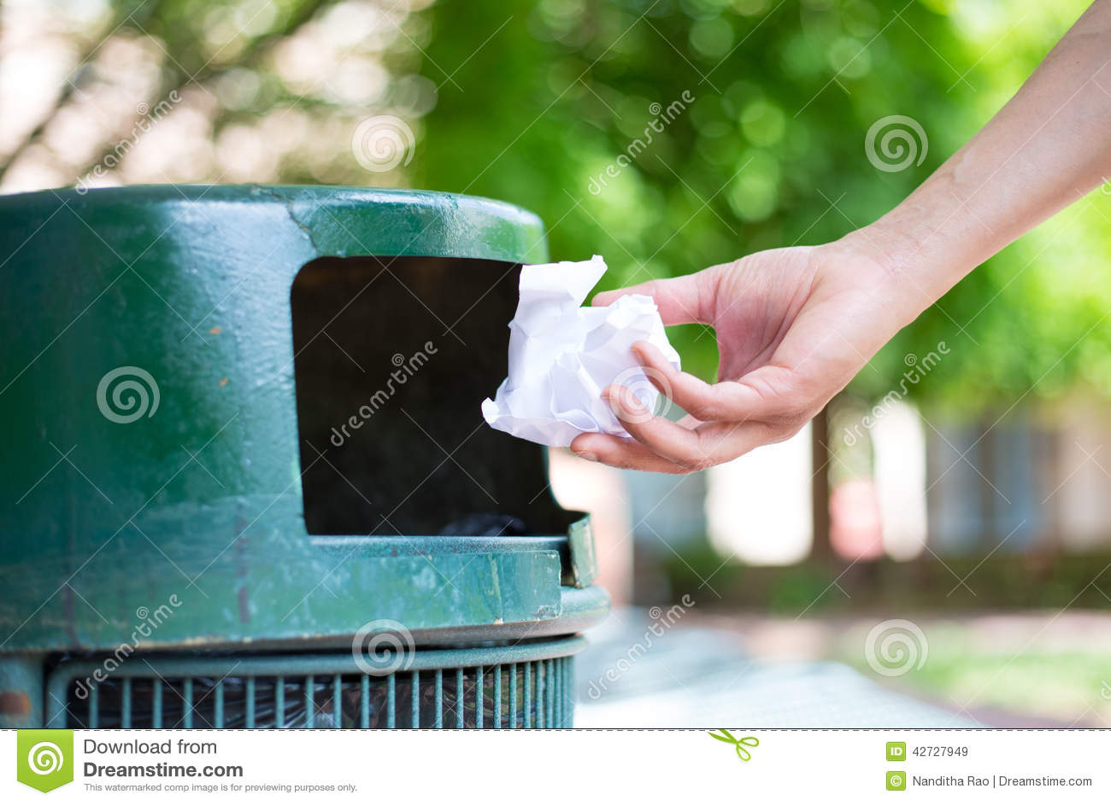 Throwing Away Trash Stock Image Image Of Cancel Filing