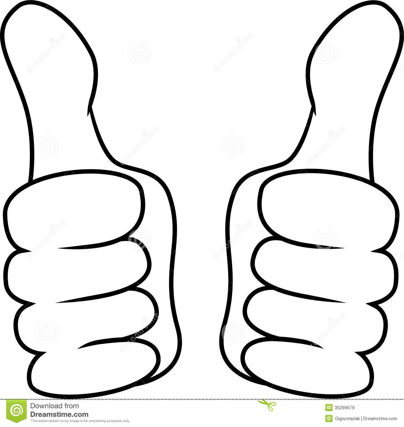 Thumb Up Left And Right Hand Stock Vector