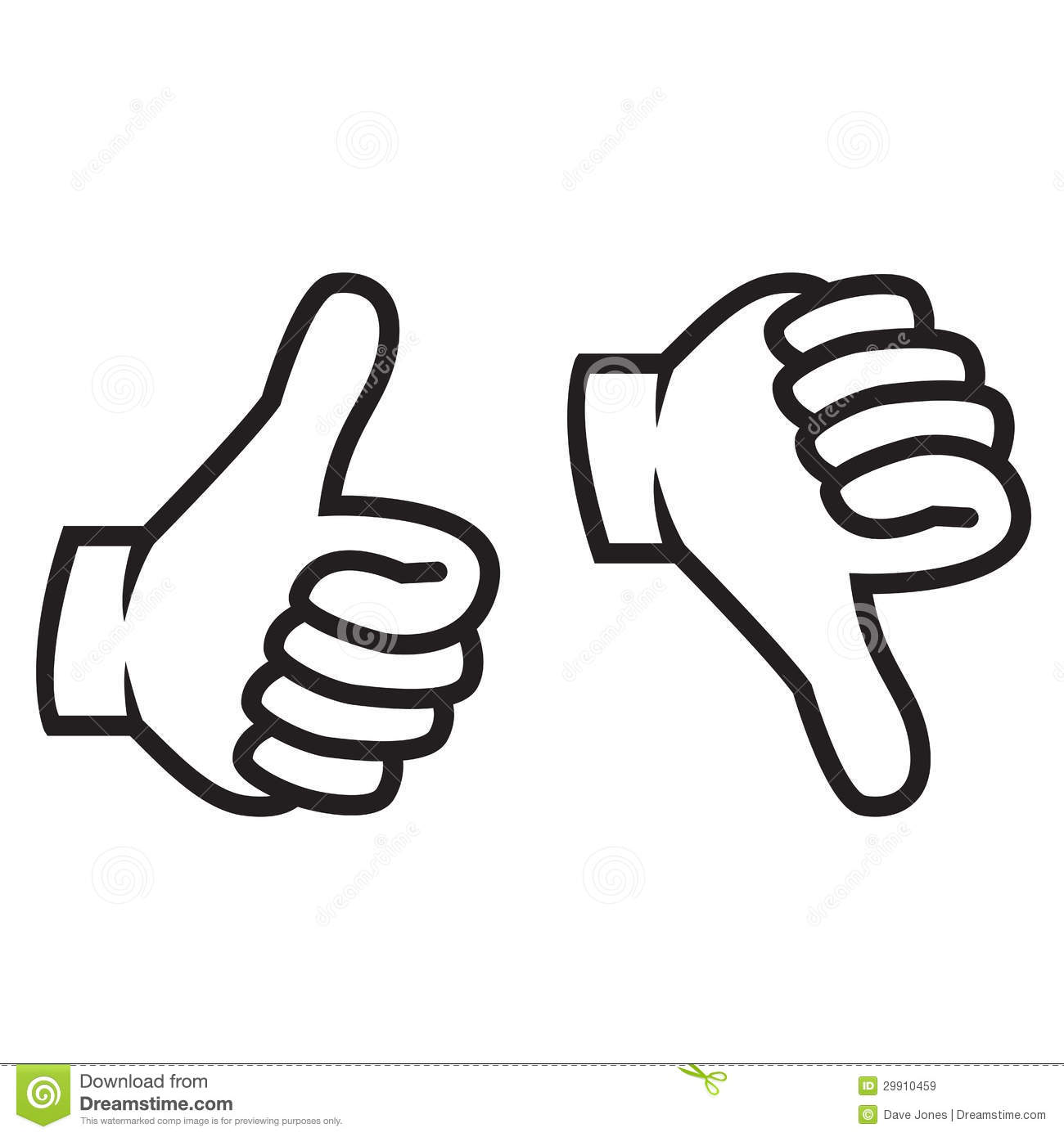 Thumbs Up And Down Gesture Royalty Free Stock Images