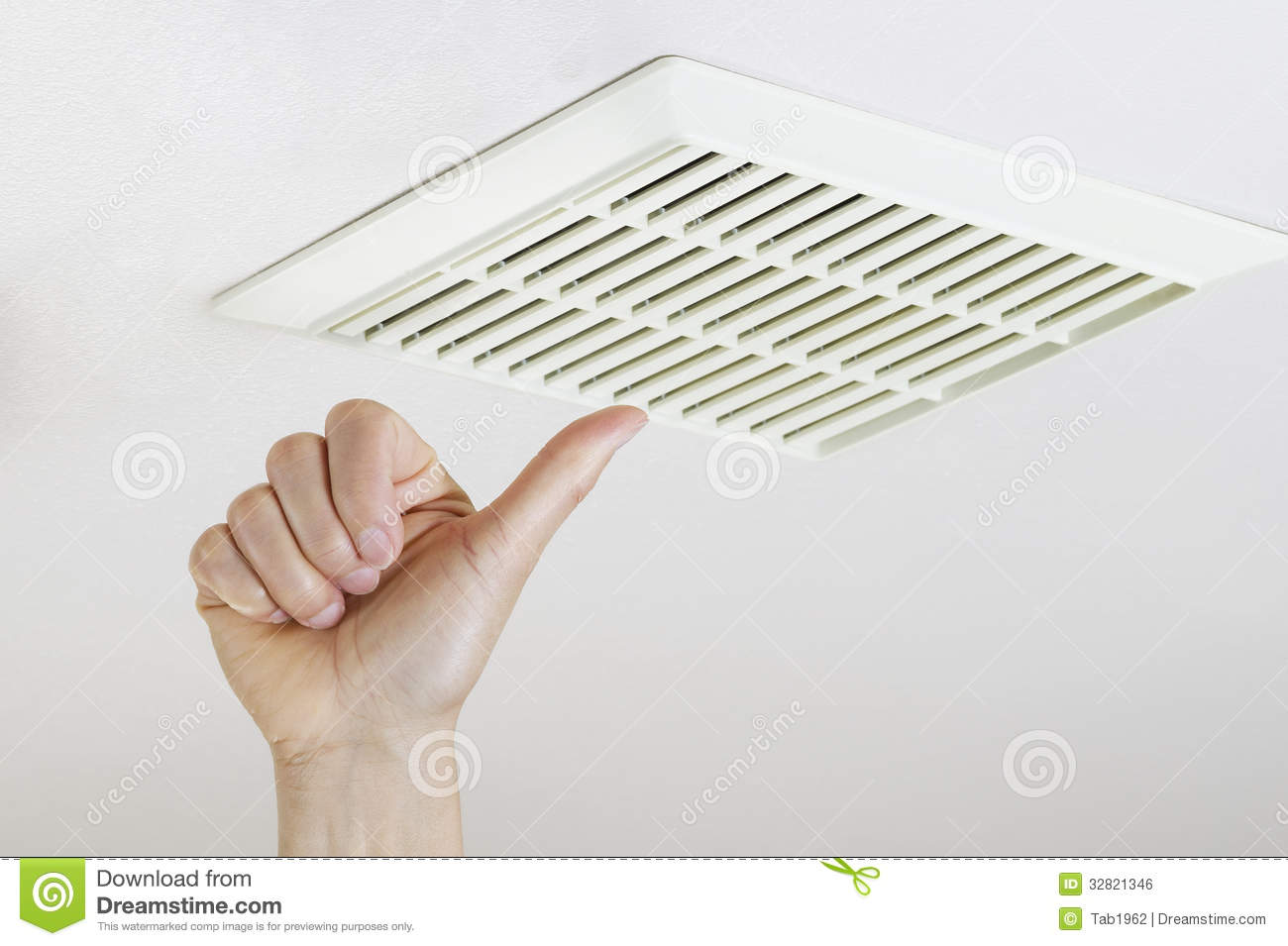 Bathroom Fan Cover Thumbs Up After Successfully Cleaning And Installing Fan