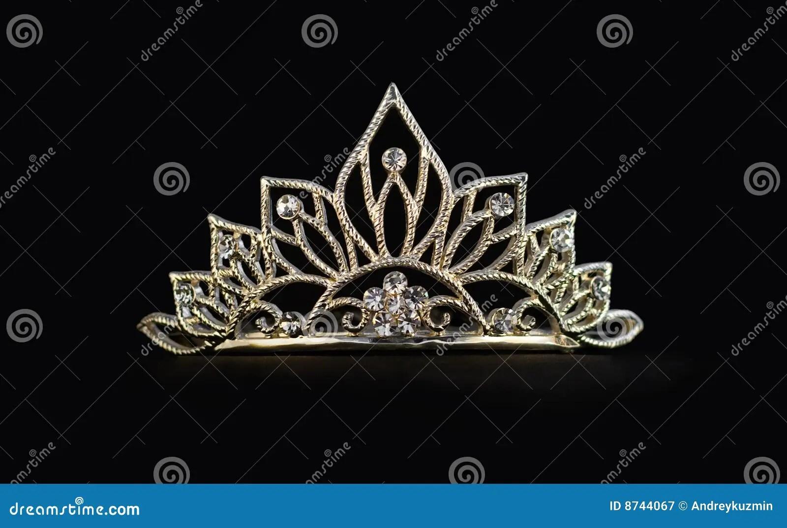 Tiara Or Diadem Or Crown On Black Stock Image - Image of platinum. universe: 8744067
