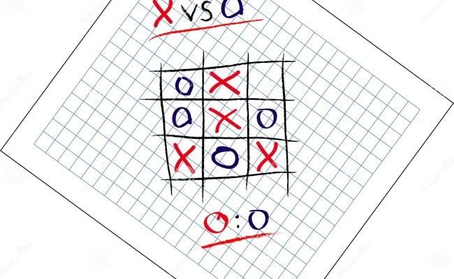 Tic Tac Toe Game Draw Royalty Free Stock Image Image