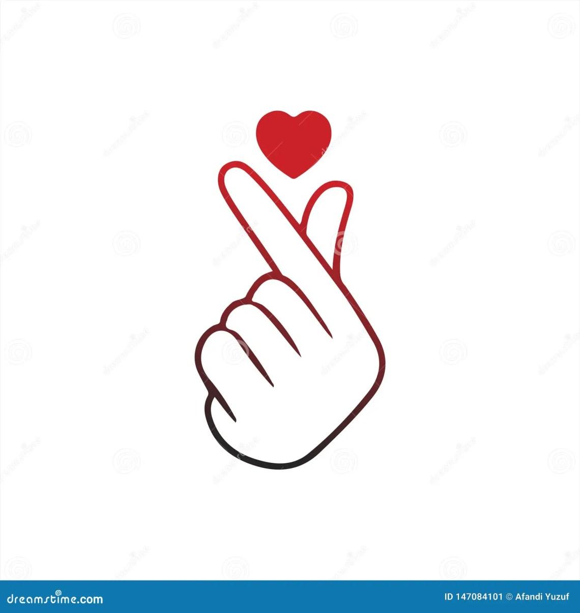Download Korean Finger Heart `I Love You` Hangul Vector ...