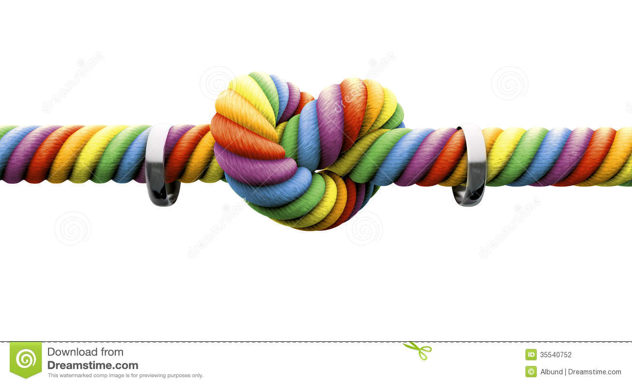 Tie The Knot With Rings Gay Marriage Stock Photography