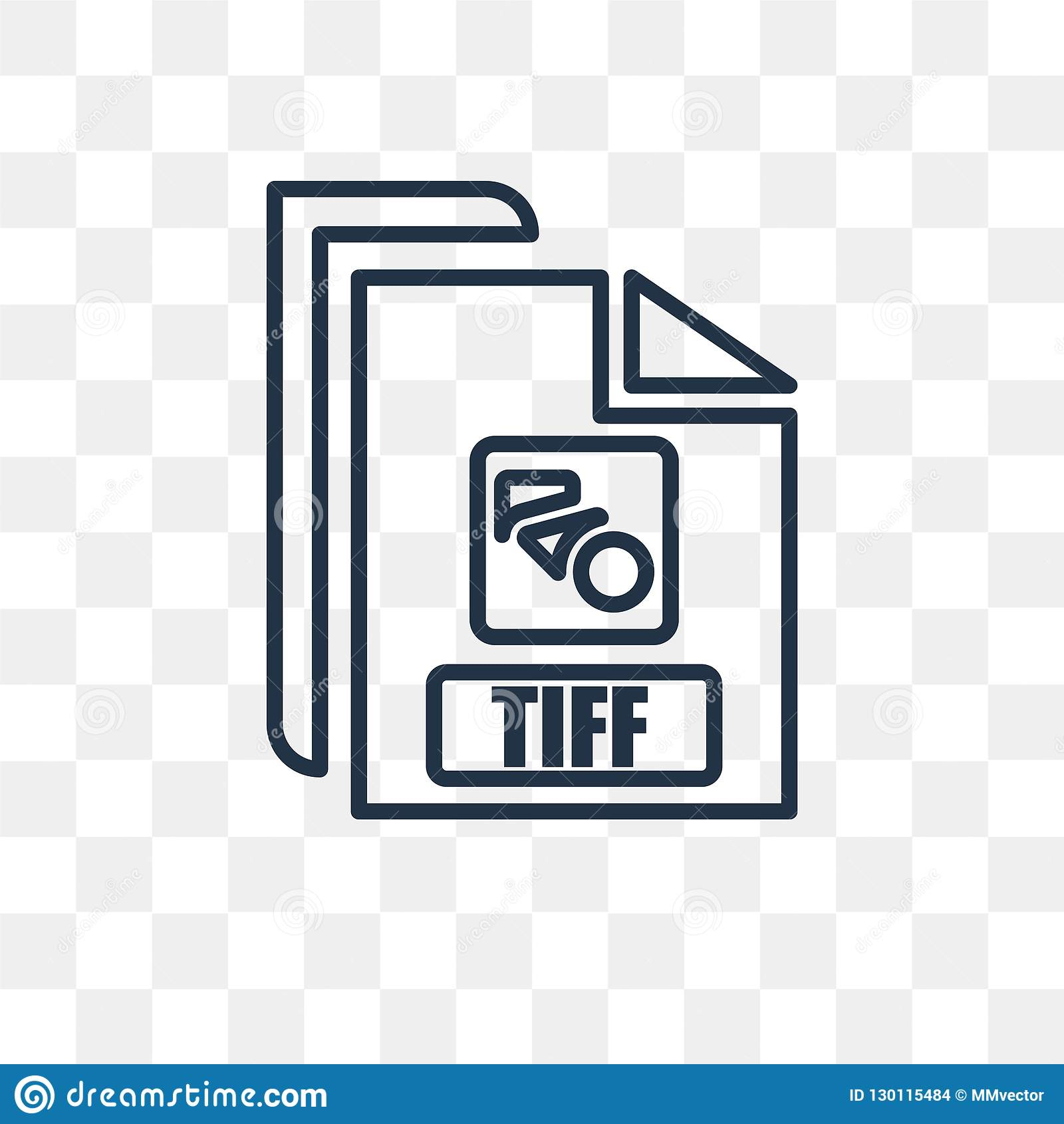 tiff vector icon isolated