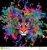 Colorful Tiger Face Wallpaper