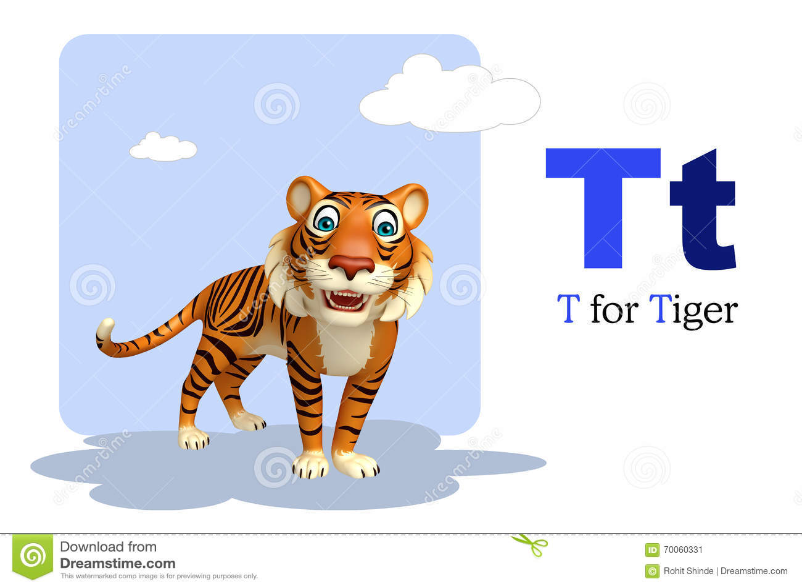 Tiger With Alphabet Stock Illustration Illustration Of