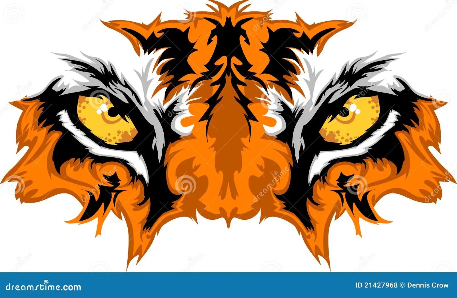 tiger eyes vector graphic