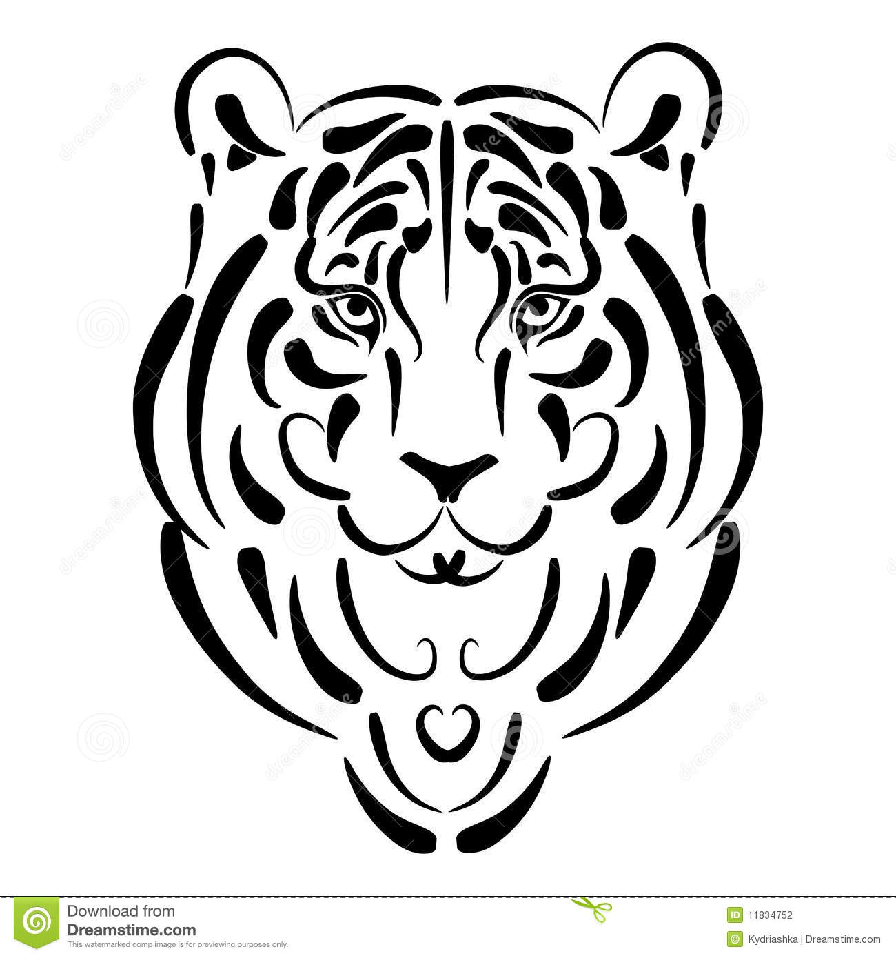 Tiger Stylized Silhouette Symbol Year Stock Photography