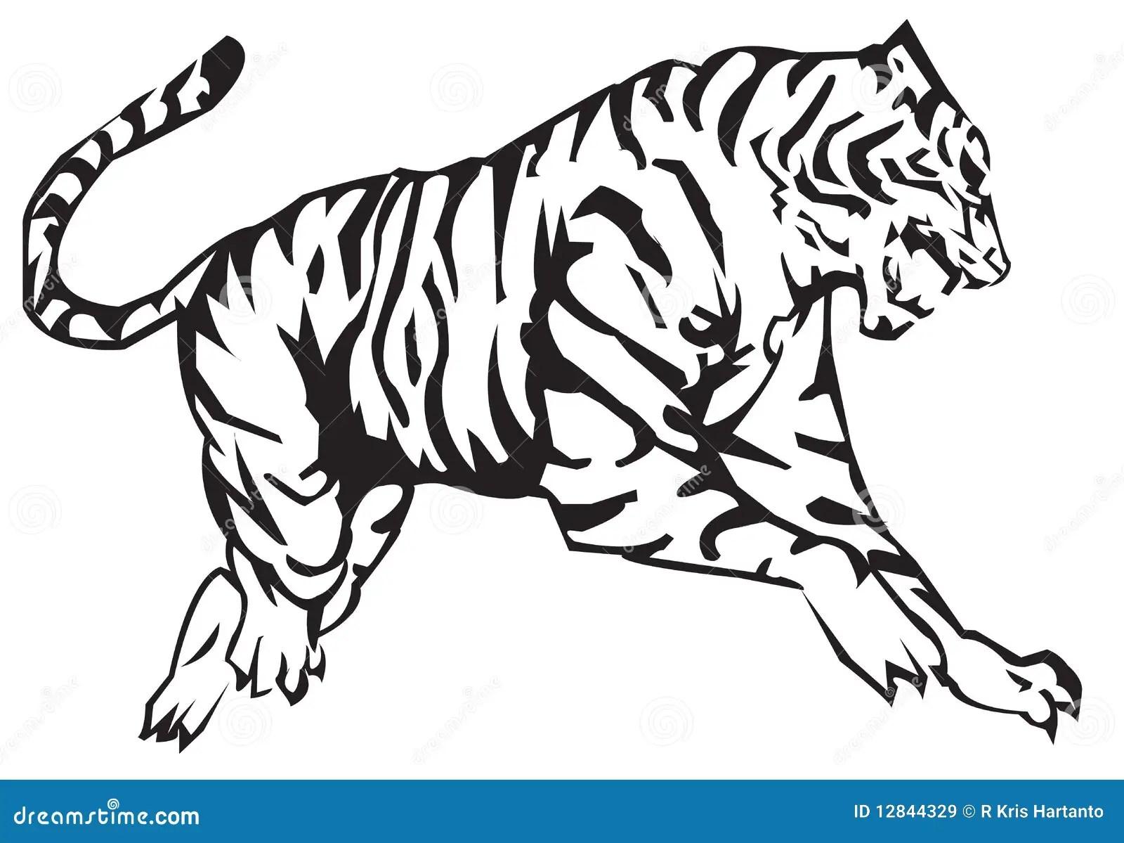 Tiger-Tierkreis vektor abbildung Illustration von