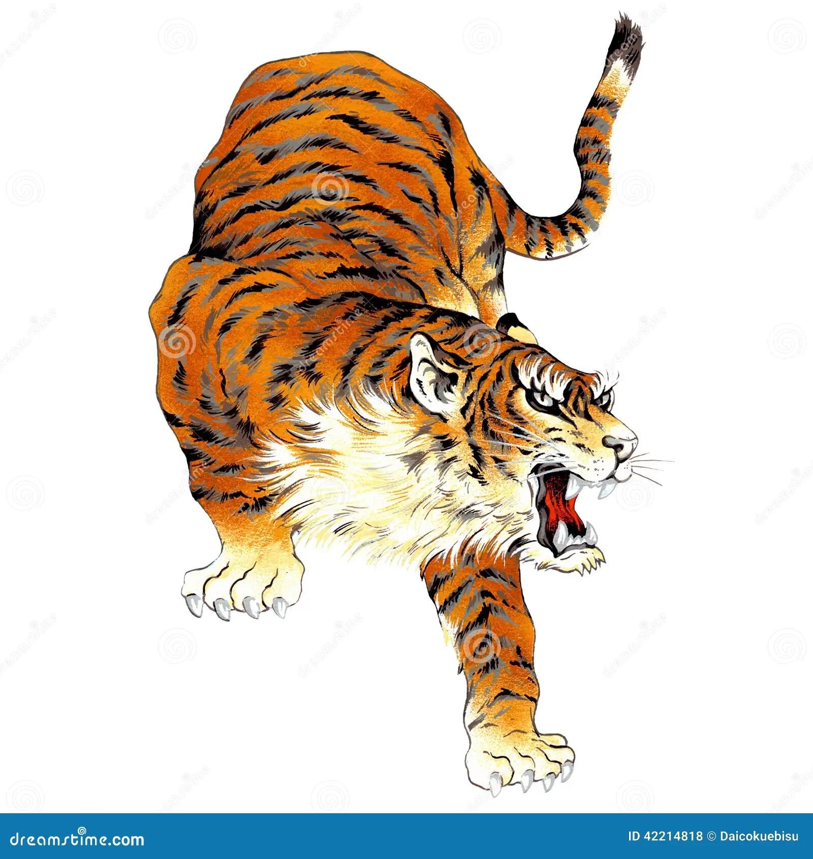 Tigre Japonais Illustration Stock