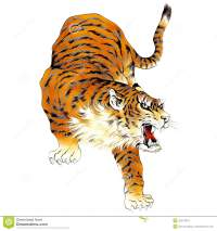 Tigre Japonais Illustration Stock - Image: 42214818