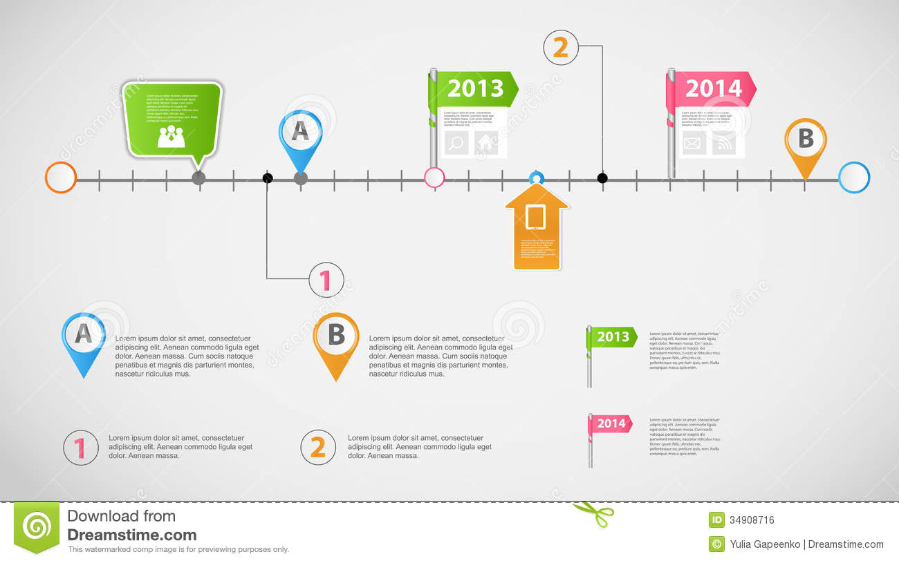 Timeline Infographic Business Template Vector Royalty Free