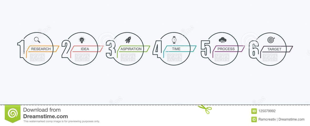 Timeline Infographic Design Template With Step Structure