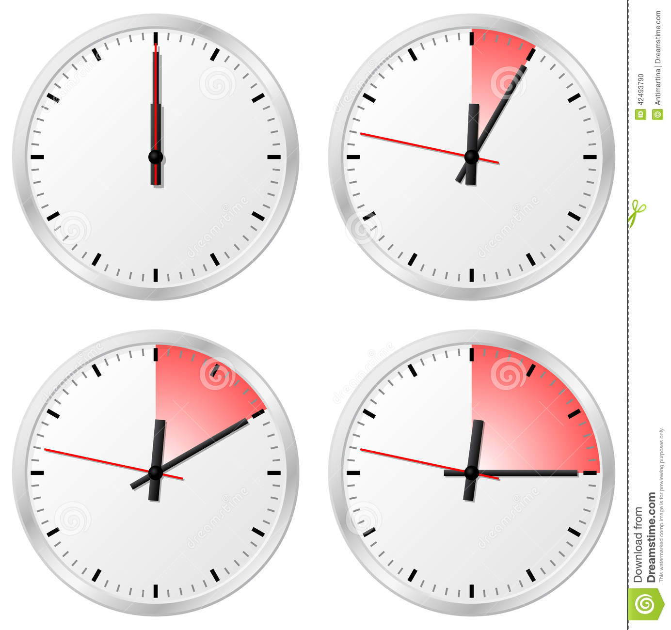 Timer With 0 5 10 And 15 Minutes Stock Vector