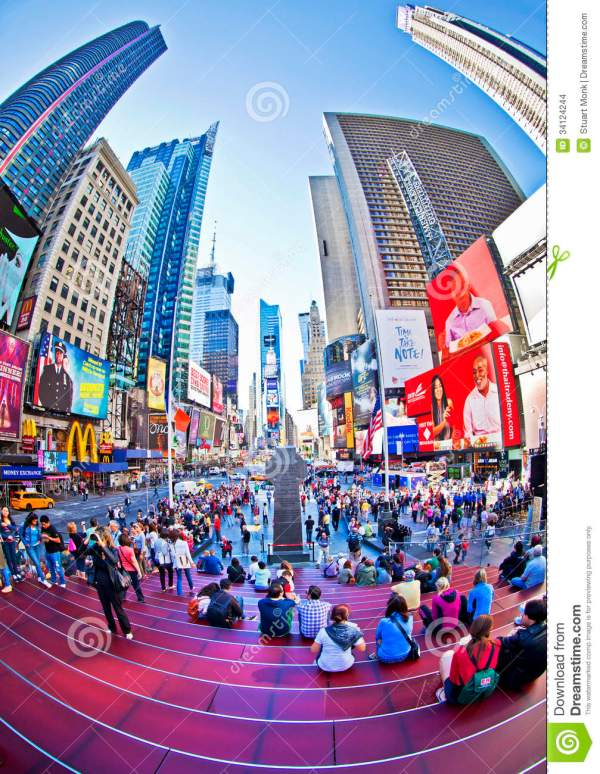 Times Square Editorial Stock - 34124244