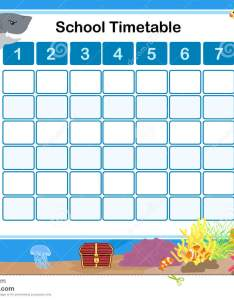 Timetable for school also stock vector illustration of chart rh dreamstime