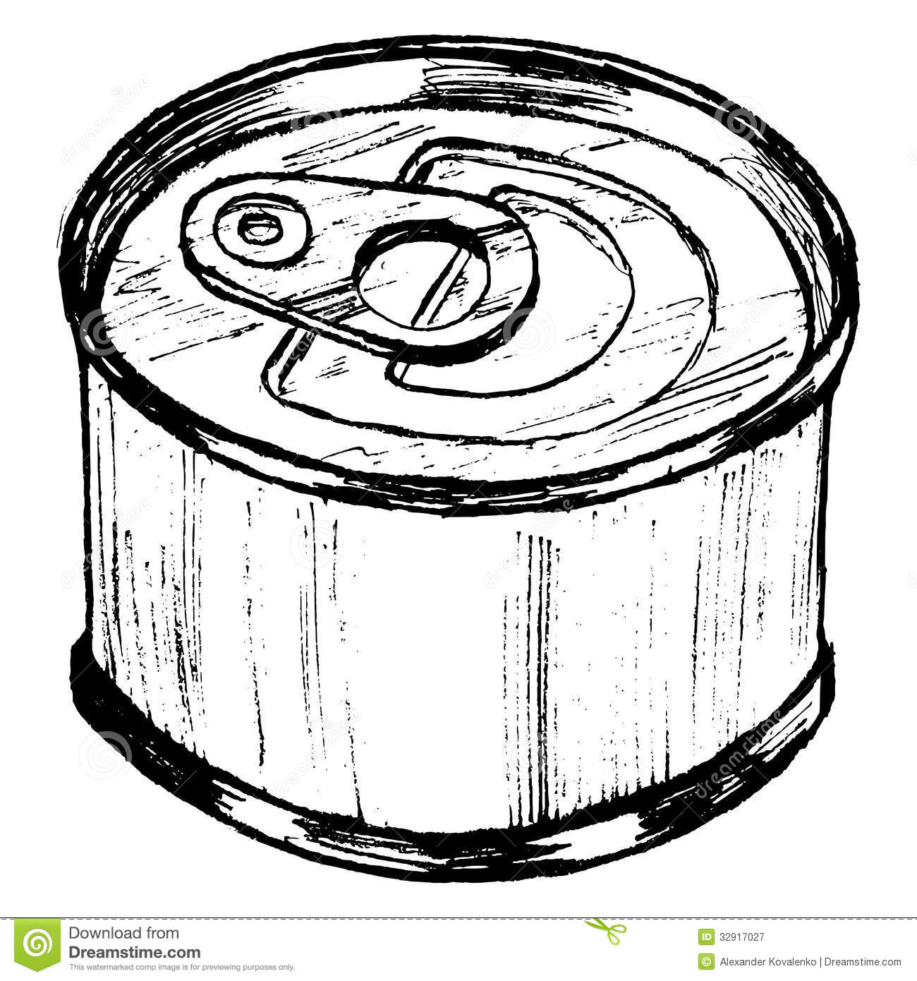 Tin Can Stock Vector Illustration Of Image Cylinder