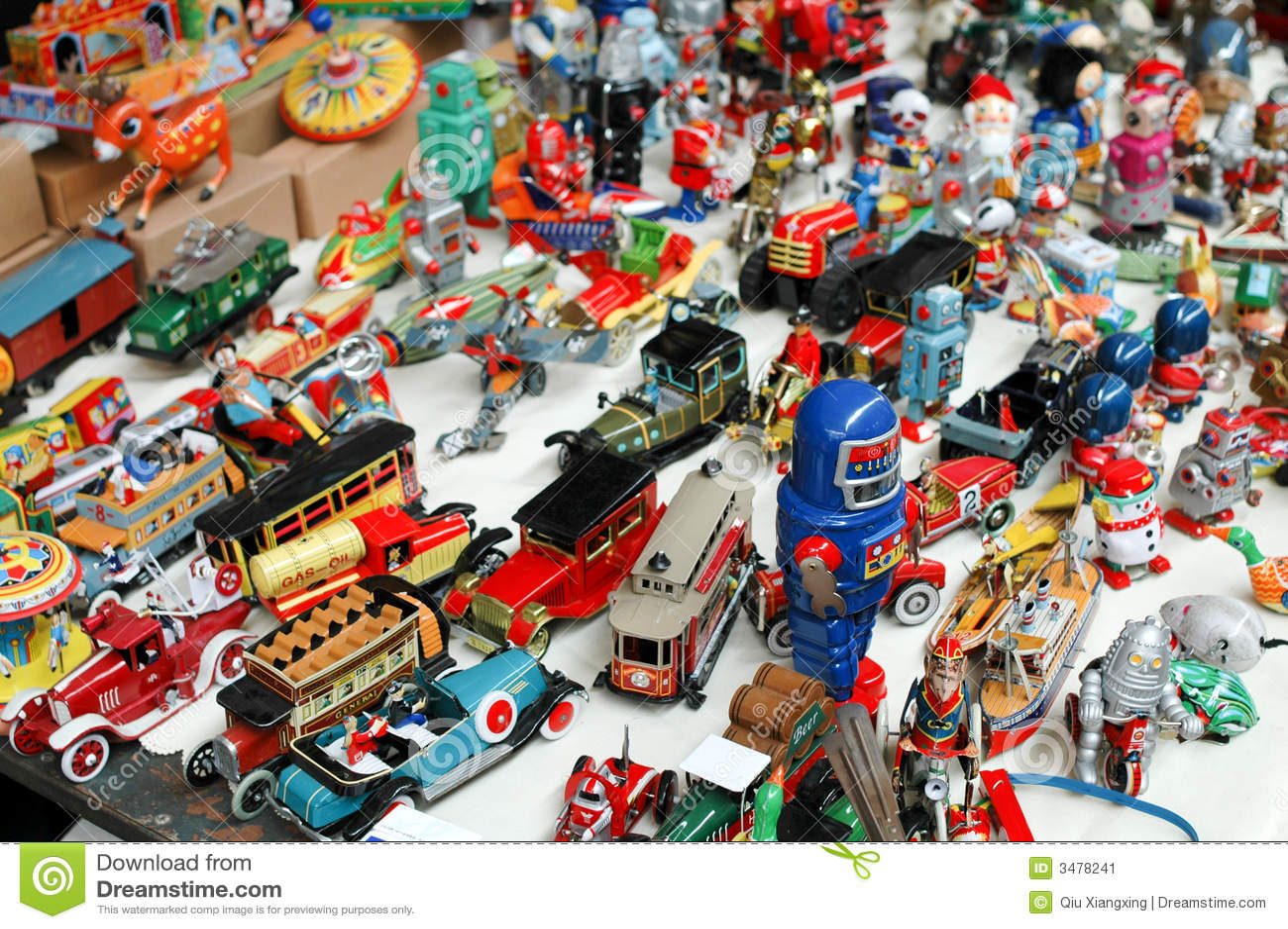 Tin Toys Stock Image Image 3478241