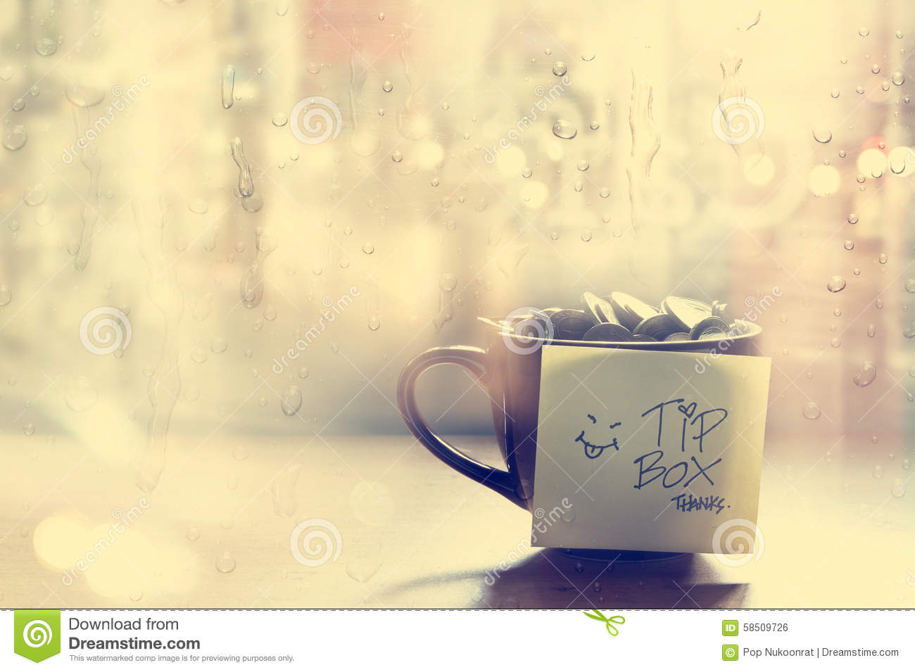 3d Animation Wallpaper Download Tip Box Coin In The Coffee Cup In Cafe Front Of Mirror