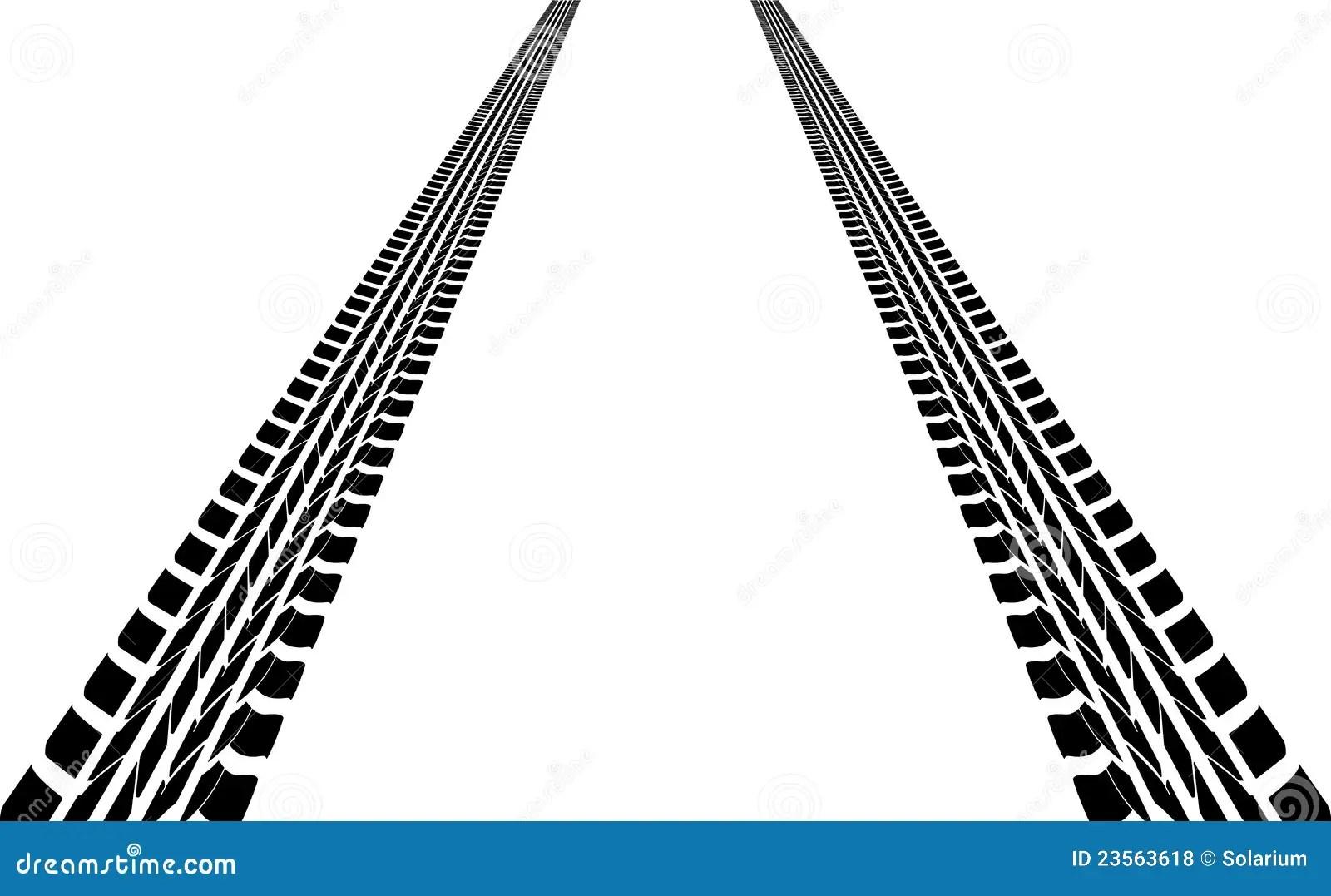 Tire tracks stock vector. Illustration of fast, both