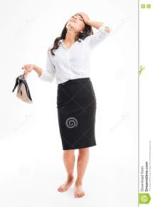 Businesswoman Standing Heels