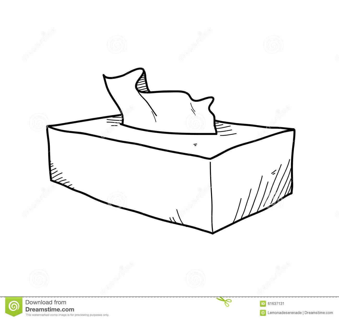 Tissue Box Doodle stock vector. Illustration of hospital