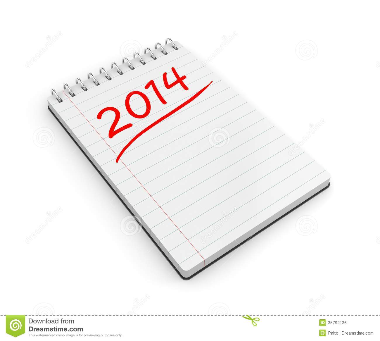 To-do List For The New Year Stock Illustration