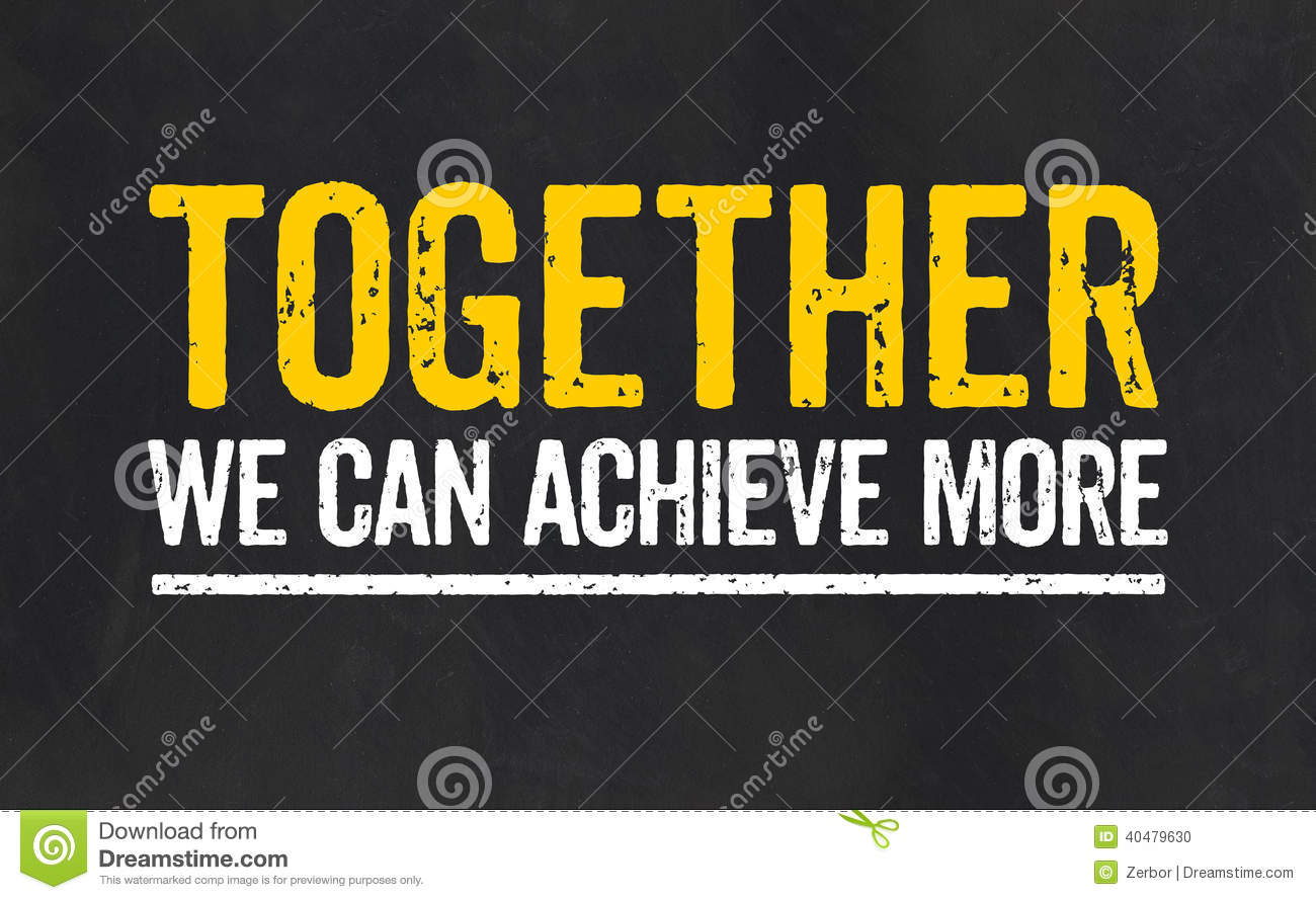 Together We Can Achieve More Stock Illustration