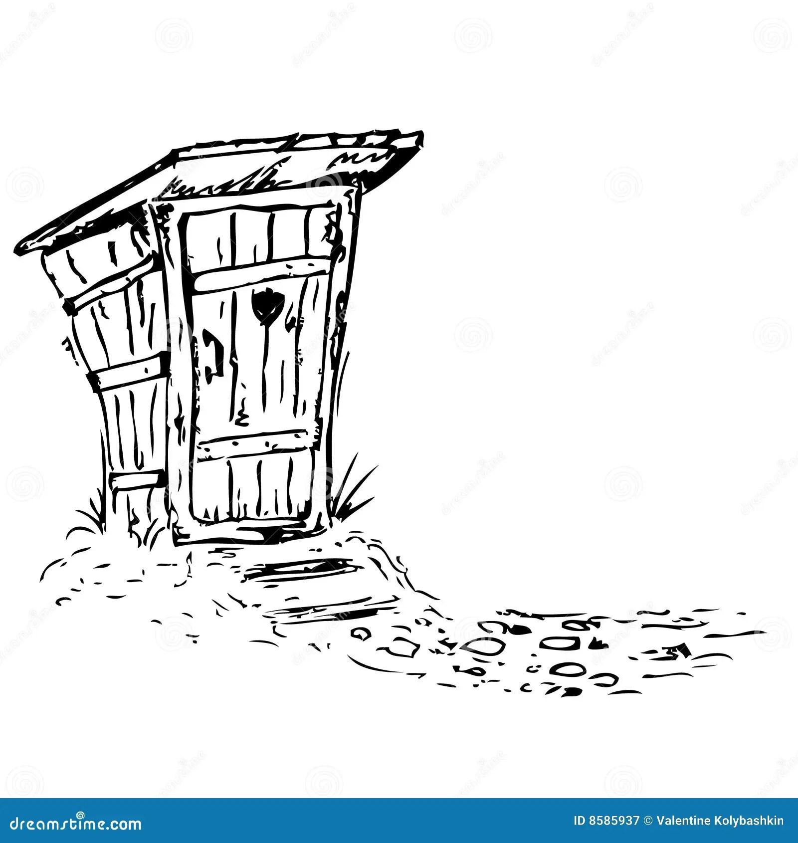 Toilet Stock Illustration Illustration Of Outhouse Hinge