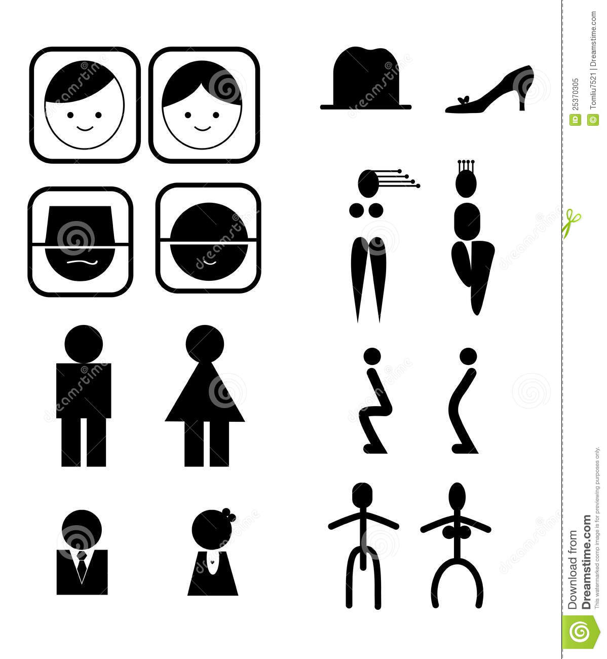 Toilet icons stock vector. Image of hygiene, room, rest